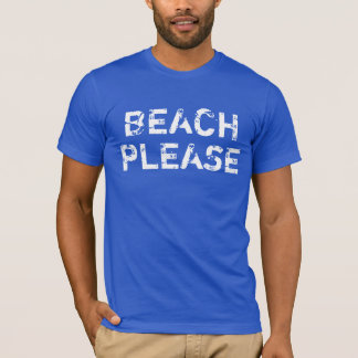 Der Vintage Strand der Männer bitte auf T-Shirt
