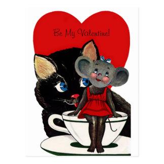 Der Vintage Tag des Valentines, Postkarte