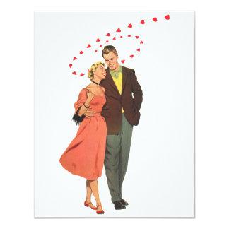 Der Vintage Tag des Valentines, romantische sich 10,8 X 14 Cm Einladungskarte