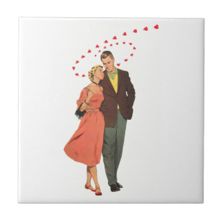 Der Vintage Tag des Valentines, romantische sich Fliese