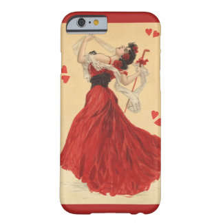 Der Vintage Tag des Valentines, tanzende Dame Red Barely There iPhone 6 Hülle