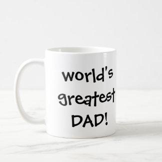 Der Vintage Vatertag, glücklicher Vati und Kaffeetasse
