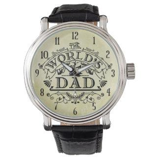 Der Vintage Vati der Welt der Zahl-eine blühen Uhr
