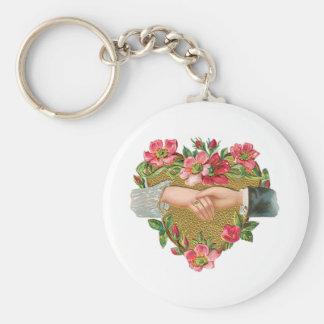 Der Vintage viktorianische Tag des Valentines, Schlüsselanhänger