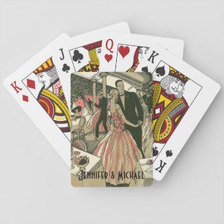 Der Vintage Wedding Kunst-Deko, Jungvermählten Spielkarten