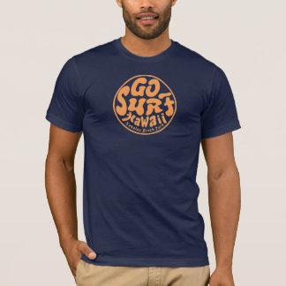 Der Vintagen Männer GEHEN BRANDUNGS-HAWAII-T - T-Shirt