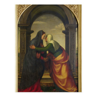 Der Visitation von St. Elizabeth zur Jungfrau Mary Postkarte