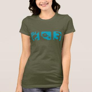Der Vogel-Frauen des GNOME 3 der T - Shirt
