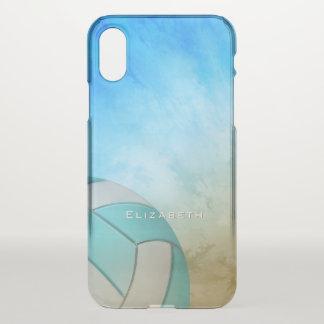 Der Volleyball der Ozean-Strand-Frauen iPhone X Hülle