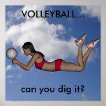 Der Volleyball-Plakat der Frauen