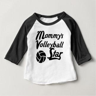 Der Volleyball-Stern der Mama Baby T-shirt