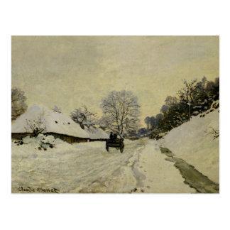 Der Wagen oder Straße unter Schnee bei Honfleur, Postkarte