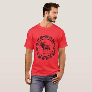 Der wahre Norden-starker Elch-T - Shirt der Männer