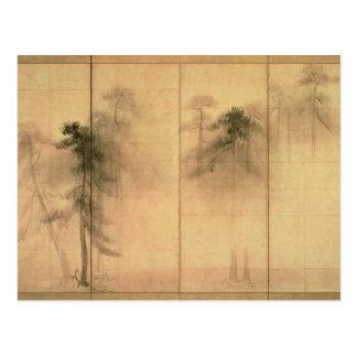 Der Wald der Kiefern Postkarte