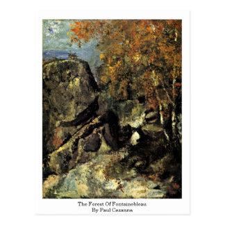 Der Wald von Fontainebleau durch Paul Cezanne Postkarte