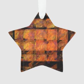 Der Wand-abstrakte Kunst-Acryl-Stern Ornament