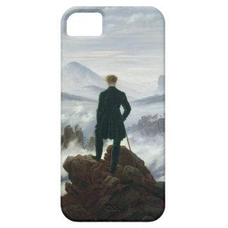 Der Wanderer über dem Meer des Kastens des iPhone 5 Etui