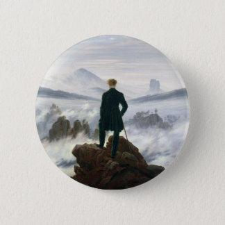 Der Wanderer über dem Meer des Nebels Runder Button 5,1 Cm
