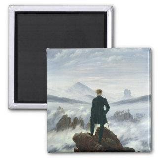 Der Wanderer über dem Meer von Nebel, 1818 Quadratischer Magnet