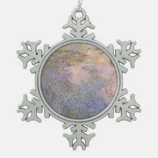 Der Wasser-Lilie Teich Schneeflocken Zinn-Ornament