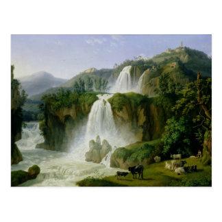 Der Wasserfall bei Tivoli, 1785 Postkarte