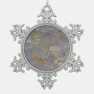 Der Wasserlilie-Teich Schneeflocken Zinn-Ornament