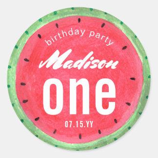 Der Wassermelone-| Aufkleber Geburtstags-des