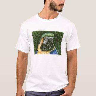 Der Wecker-T - Shirt Blauund Goldder macaw-Männer
