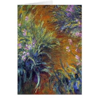 Der Weg durch die Iris durch Claude Monet Karte