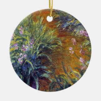 Der Weg durch die Iris durch Claude Monet Keramik Ornament