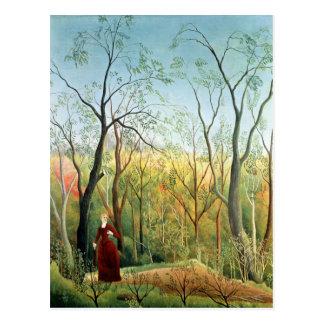 Der Weg im Wald, 1886-90 Postkarte