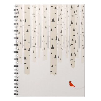Der Weg-Notizbuch des Winters Notizblock