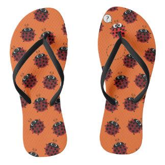 Der Weg, zum zu entspringen - orange Fieber Flip Flops