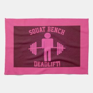 Der Weightlifting-Turnhallen-Tuch der Frauen rosa Geschirrtuch
