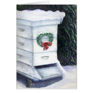 Der Weihnachtsbienenstock Karte