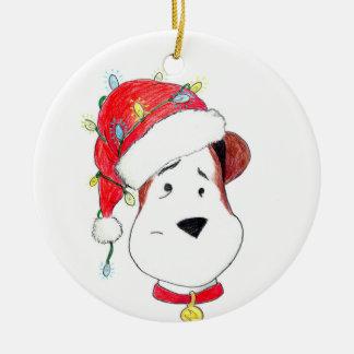 Der Weihnachtsblitz konnte nicht einmal verzieren Rundes Keramik Ornament