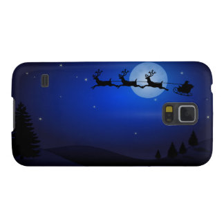 Der Weihnachtsmann-Pferdeschlitten in der Nacht Galaxy S5 Cover