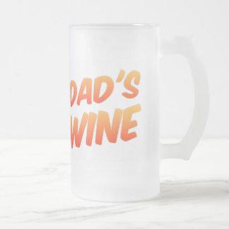 Der Wein-mattiertes Bier Stein des lustigen Vatis Mattglas Bierglas