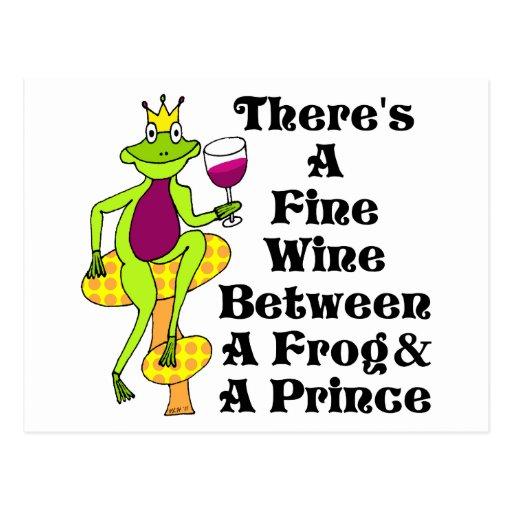 """Der Wein-Prinz """"feiner Wein zwischen Frosch u. Pri Postkarte"""