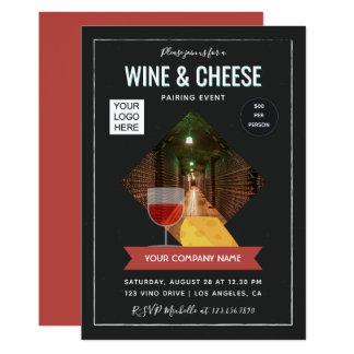 Der Wein und Käse, die Ereignis zusammenpassen, Karte