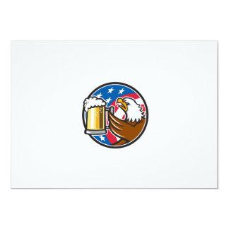 Der Weißkopfseeadler, der Flaggen-Kreis BierStein 12,7 X 17,8 Cm Einladungskarte