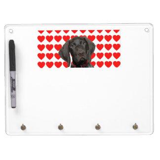 Der Welpen-Liebe glatten Grizzlyvalentines Trockenlöschtafel Mit Schlüsselanhängern