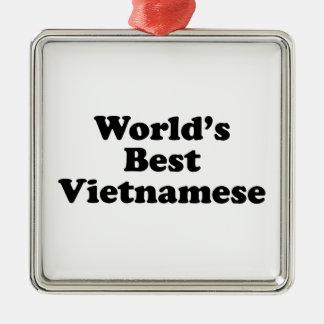 Der Welt der Vietnamese gut Quadratisches Silberfarbenes Ornament