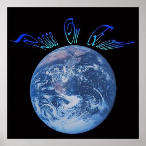 Der Weltfrieden des Gottes Posterdrucke