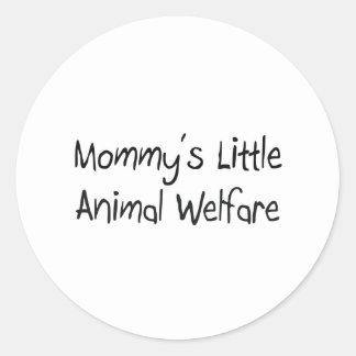 Der wenig Tierschutz der Mama Runder Aufkleber