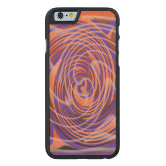 Der Whirl, w5.2 Carved® iPhone 6 Hülle Ahorn