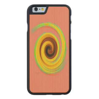 Der Whirl, w6.2 Carved® iPhone 6 Hülle Ahorn