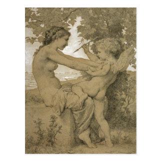 Der Widerstand der Liebe durch Bouguereau Postkarte
