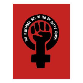 Der Widerstand wird von den ekligen Frauen geführt Postkarte