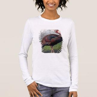 Der wilde die Amerikaner-Türkei-Hahn, Illustration Langarm T-Shirt